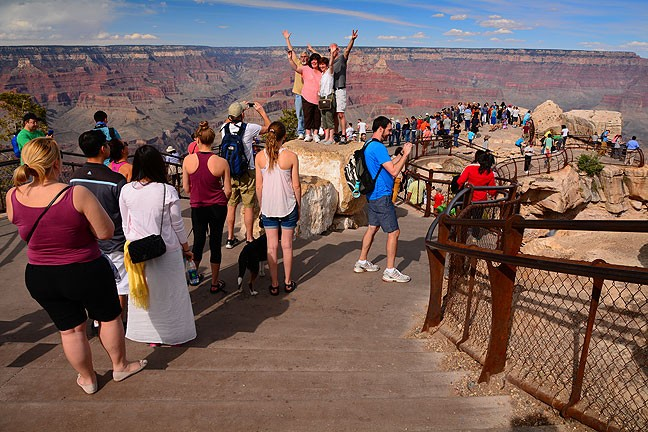 Not all that glitters is gold, nor is everything beautiful in the desert. The main visitor center at Grand Canyon National Park was bustling with noisy tourists.