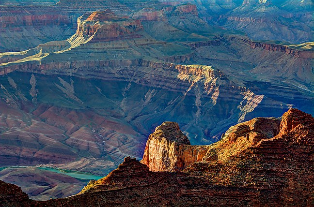 This was my first experience photographing the Grand Canyon at sunset. As you can see, the light did not disappoint me.