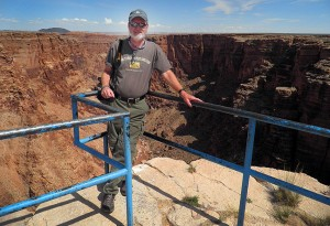 Your host poses for a photo at the Little Colorado overlook.