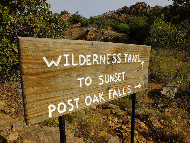 About a mile from the trail head is a spur trail that leads to Post Oak Falls.