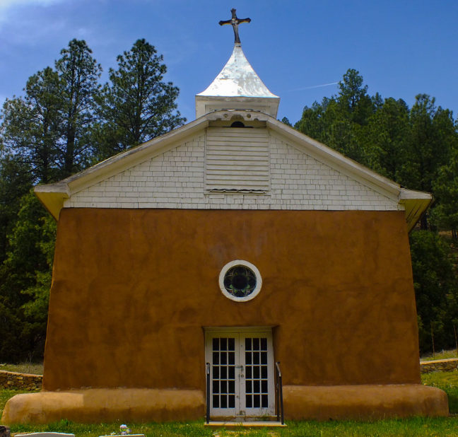Readers might recall that I photographed this elegant chapel in the Sangre de Christos Mountains in 1999.
