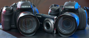 These were our cameras for the trip: two Fujifilm HS30EXRs and an Olympus FE-5020.