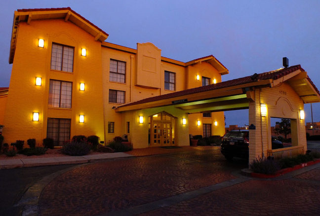 Like everything else, gorgeous evening light can make an ordinary motel, like this La Quinta where we stayed in Santa Fe, look great. We had no problems with our stay.