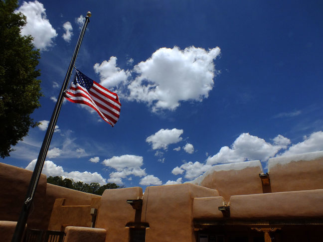 The sky was being particularly beautiful at the Pecos National Historical Park's visitor center.
