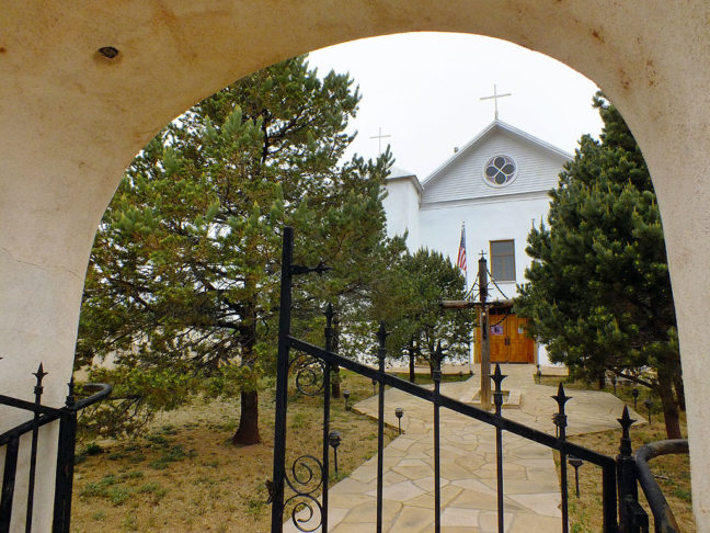 This is another view of the San Miguel del Vado Church in Coruco, New Mexico.