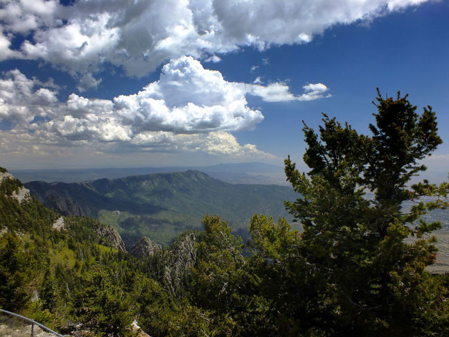 It's always a pleasure to go to the top of Sandia Crest and enjoy the views and the fresh air. This view looks south.
