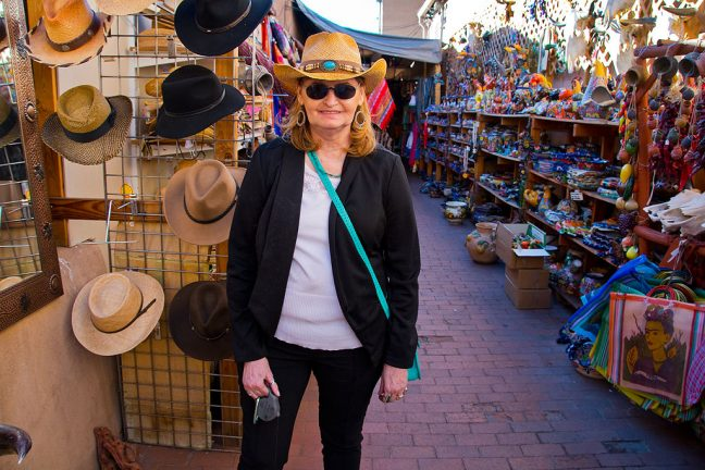 Abby bought this hat at one of her favorite shops on The Plaza.