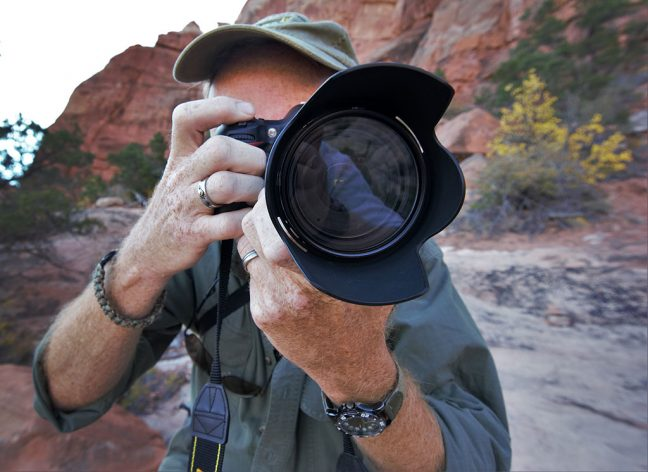 Scott photographed me with my camera...