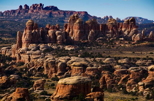 This view was made looking southeast in the heart of Canyonlands on the Chesler Park Trail.