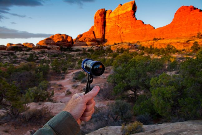 I use my Ion Air Pro 3 ti make video on the Chesler Park Trail at Canyonlands at sunrise.