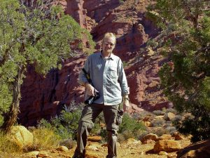 Abby made this image of me at Fisher Towers.