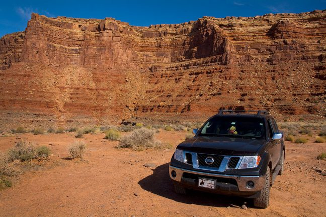Our Nissan Frontier seems completely at home on unimproved roads and two-track paths common to southern Utah.