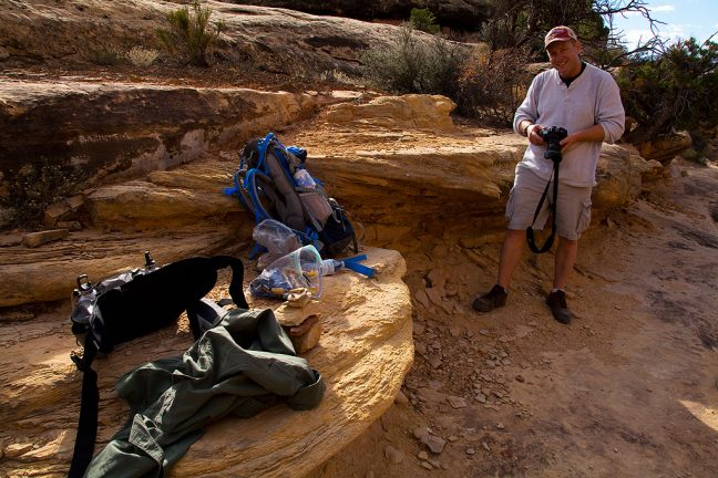 Scott and I stop for a food break at the apex of our hike, which totaled about 11.5 miles.