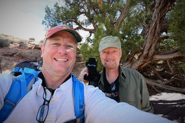 Scott made this picture of us deep in the heart of Canyonlands. We have been friends for most of our lives. I think I can speak for him when I say that we both had a great time.