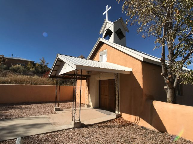This is a different angle on the The Santa Domingo Catholic Church of Cundiyo, New Mexico.