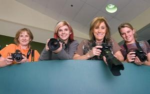 My crew for the evening, Kathy Ingram, Devon Liljequist, Debbie Liljequist, and Shayla Sutton.