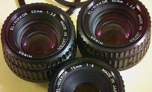 In my silver-based film days, I had three enlarging lenses, a 50mm that belonged to me, and a 50mm and 75mm that belonged to my newspaper.
