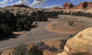 This image of Squaw Flat Campground, Canyonlands National Park, was made at midday with a modern digital SLR camera.