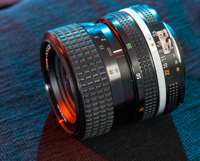 The Nikkor 35-70mm f/3.3-4.5 is a good-looking lens, and is well-made.