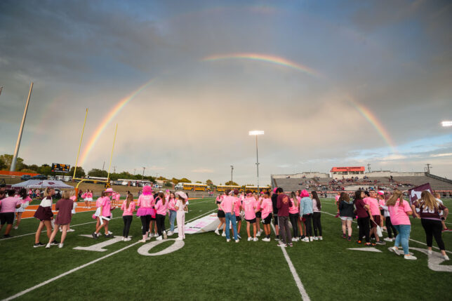 Pink Out Night under the rainbow: how does photojournalism seem to get better every year?