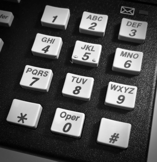 This is a DTMF telephone keypad like the one we had in the late 1970s.