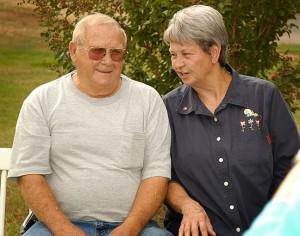 James and Jusy Taff share a candid moment at the 2008 Shoffner family reunion (Photo by Abby S. M. Barron)