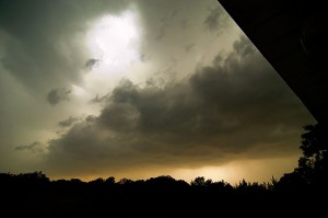 Big scary clouds over our house Monday; none produced significant severe weather