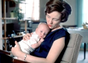 Kodachrome color slide of my mother and me in August 1963, made by my grandfather Richard Batten. Mom told me one time this was one of the happiest moments of her life.