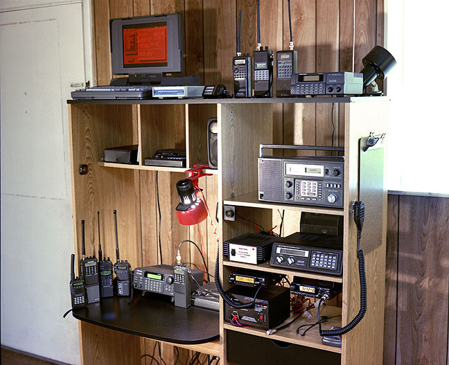 This was my communications stack in the mid 1990s. Most of the scanners in this image have died and been replaced.