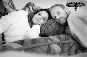 Ann and I pose for a double self portrait on a couch in her home in Shawnee, Oklahoma, 2003. Ann was one of the best friends I ever had.