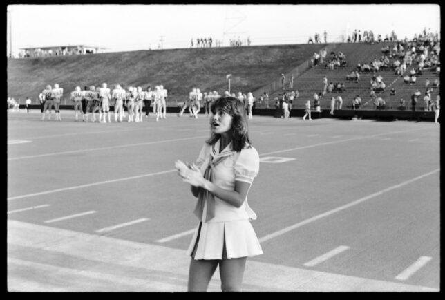 This is Jena Owrey during a football game in September 1980. She was always sweet to me, and we remained friends on social media for a long time, but she has now disappeared. Also of note: compare how skinny the football players look compared to current players.