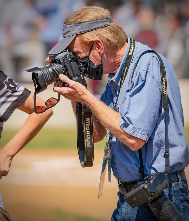 Wes Edens spotted me doing my thing at the state softball tournament last week.