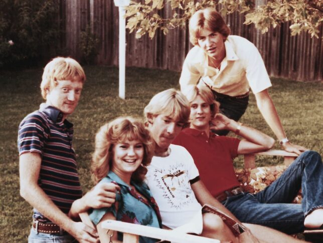 """That's me on the left. When Abby saw this, she said, """"You look about eight."""" I was 17, but about as mature as an eight year old. The other people in this image are Christy Parker, who I don't know, Allen Biehl, Jeff Glenn, and Carey """"Chip"""" Johnson. I recognize now that I should have been keeping different company. No criticism of them is intended. We just weren't a good fit."""