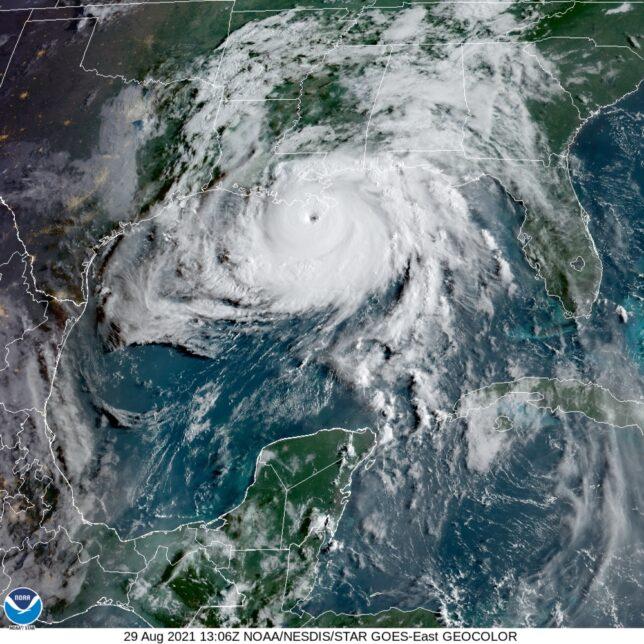 Hurricane Ida, morning Aug 29, 2021.