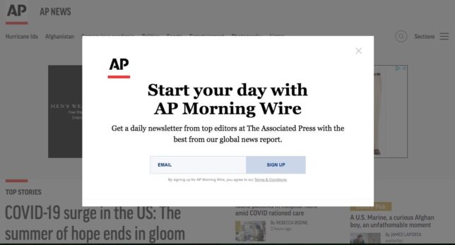 You know what, AP website? Go f*ck yourself.