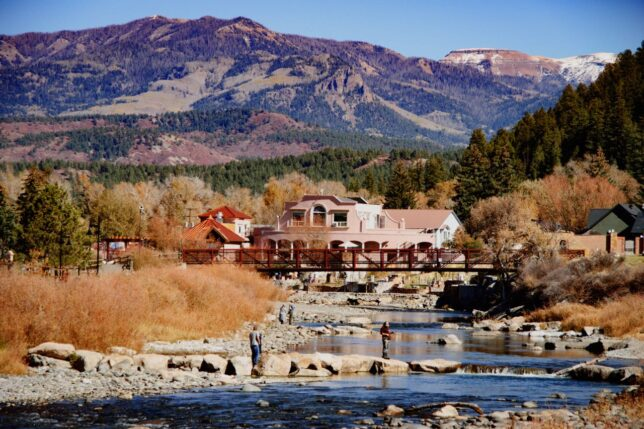 This is one of my images from the San Juan Riverwalk in Pagosa Springs, Colorado in October 2019. In the distance is Squaretop Mountain, just north of the massive Ranch that was once home to musician Dan Fogelberg.