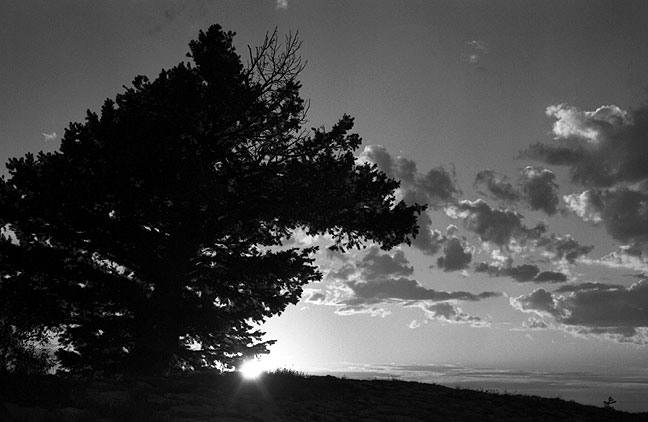 I photographed this New Mexico sunset at the end of our trip, in Villanueva.