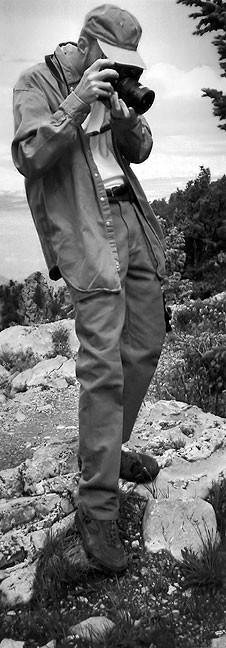 The author shoot with a Fuji medium format camera at Sandia Peak.