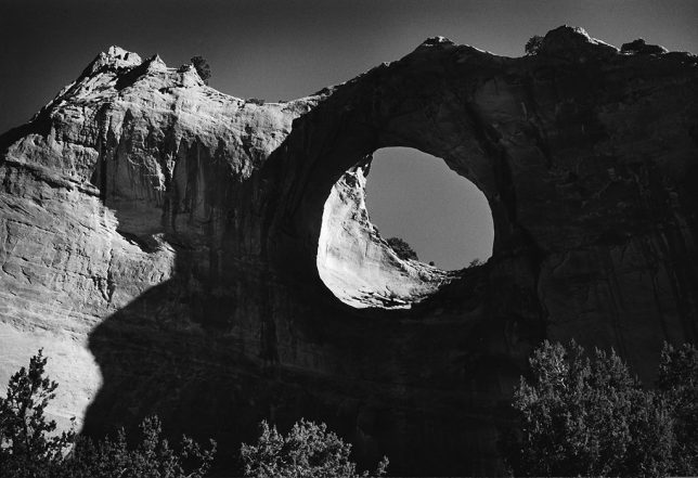 I made this image of Window Rock in morning light.
