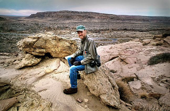 Your host pauses for a photo on the Pueblo Alto trail.