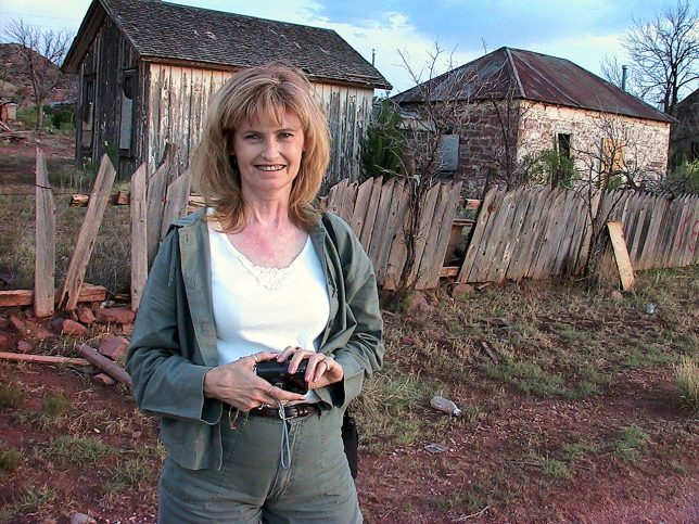 Abby Milligan smiles at our first stop, Cuervo, New Mexico.