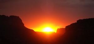 Tsegi Canyon sunset, northeastern New Mexico
