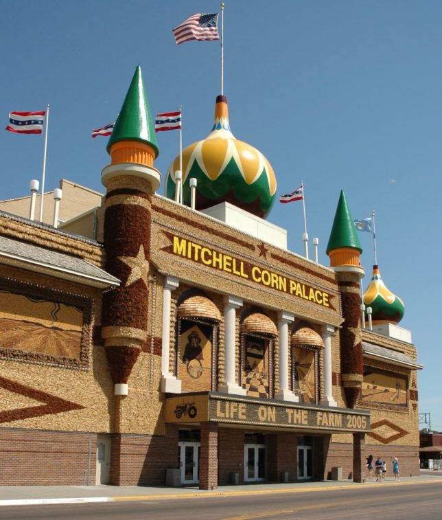 The Mitchell Corn Palace is an oddity in Mitchell, South Dakota.