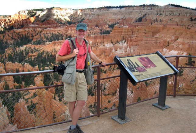 Your host poses at Bryce Canyon.