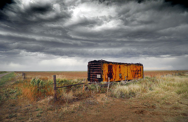 Storm clouds, rain, and high wind created a classic West Texas/Eastern New Mexico dust storm. This image was made after we drove through the heart of it.