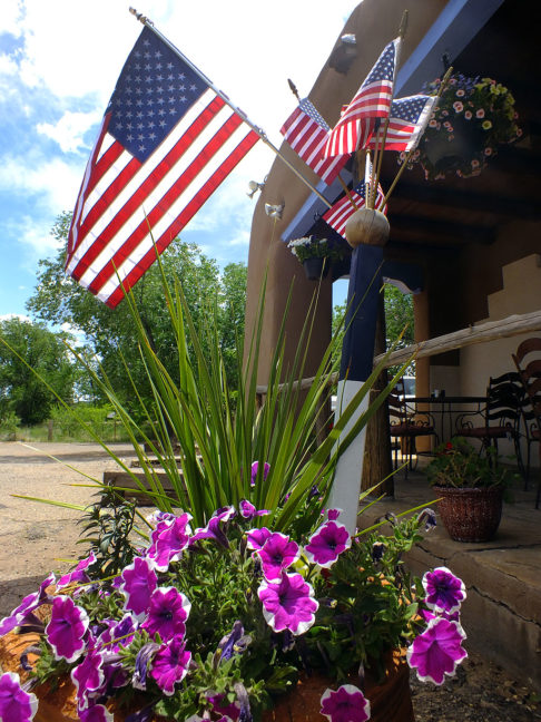 I spotted these U.S. flags on display at The Casanova Restaurant in Pecos, New Mexico.