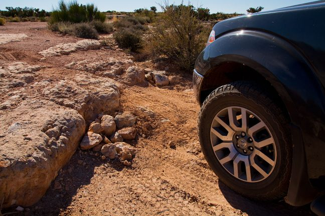 The road to the Honaker Trail is a legitimate four wheel drive affair, though our Nissan Frontier had no difficulty whatsoever.