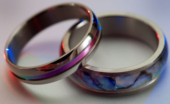 I have a whole collection of stainless steel rings like these, which I wear on the ring finger of my right hand, and which always remind me of our travels together.