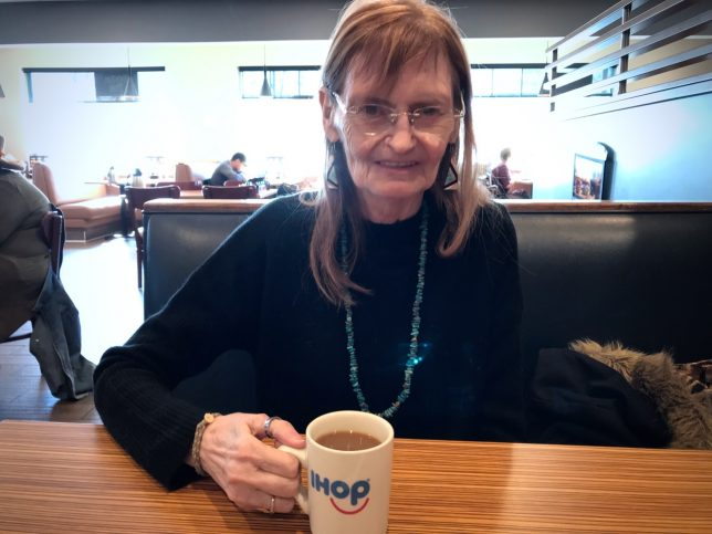 """Abby and I stopped at iHOP in Taos because it """"sounded good,"""" and when I said a grilled cheese on sourdough sounded good, she ordered it."""