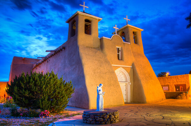 Photographing the San Francisco de Asís Mission Church in Rancho de Taos at night was on the shot list I composed when planning this trip. Abby and I had made a few images of it in 2010. This image, made about 30 minutes after sunset, was exactly as I had envisioned it.